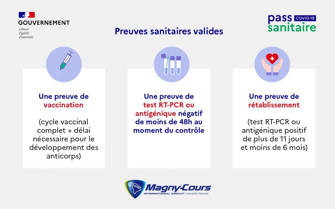 Pass Sanitaire obligatoire sur le Karting de Nevers Magny-Cours